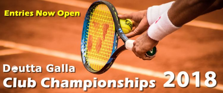 Doutta Galla Club Championships 2018 - Entries Now Open